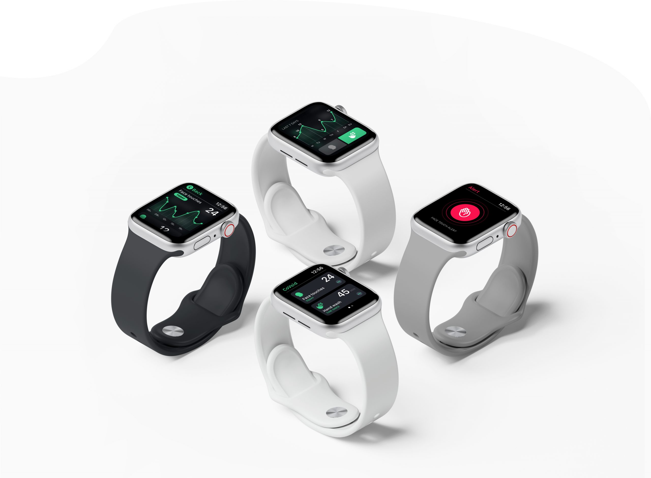 covoid app screen apple watch